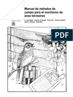 Ralph CJ Et Al 1996 metodologías de Monitoreo de aves terrestres