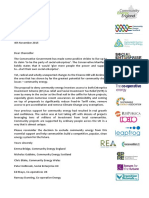 Community energy groups letter to chancellor re tax relief changes