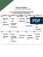 Mcv Clinic Schedule