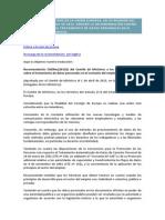 Recomendación Del Comité de Ministros Sobre Tratamiento de Datos Personales en El Contexto Del Empleo