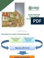 CEI 0-15-Manutenzione Delle Cabine Di Trasformazione MT-bt Catania 11-12-14