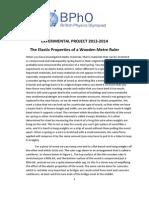 Bpho Experimental Paper 2013