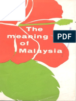 The Meaning of Malaysia
