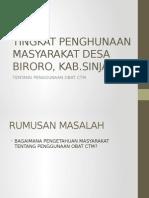 TINGKAT PENGHUNAAN MASYARAKAT DESA BIRORO, KAB.pptx