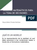 Modelos Matemáticos p Toma de Decisiones