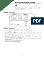 EtherWAN ED3101U User Manual