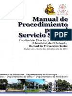 Manual 2012 de procesos academicos ues