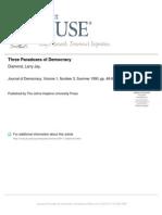 Three Paradoxes of Democracy