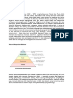 Mini Paper for Teori Hierarki Maslow