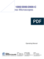 Stemi 1000-2000-2000C Stereomicroscope Operating Manual