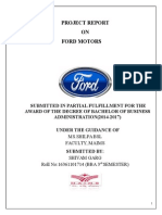 Project Report on Ford Motors