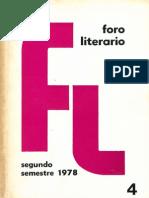Foro Literario 4. 1978