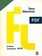 Foro Literario 5. 1979