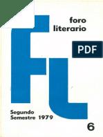 Foro Literario 6. 1979