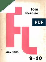 Foro Literario 9-10. 1981