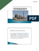 Guía de estudios de destilación multicomponente.