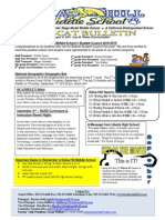 Week #6 Bobcat Bulletin 9-1-14