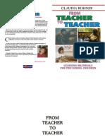 FROM TEACHER TO TEACHER
