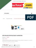 Kit Solar Fotovoltaico 1400w_dia - Bateriastotal