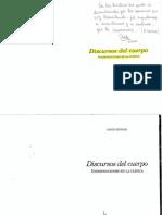 Discursos Del Cuerpo. Szyniak, David