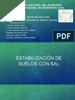 Estabilización de Suelos Con Sal