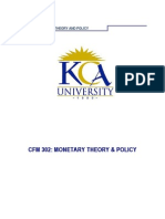 Cfm 302. Monetray Theory Policy