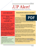AAUP Alert Fall 2015 Newsletter