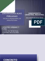 SANEAMIENTO CATASTRAL REGISTRAL