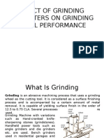 Effect of Grinding Parameters on Grinding Wheel Performance