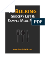The Bulking Grocery List and Sample Meal Plan