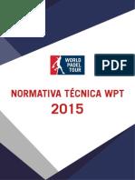 Normativa Tecnica Padel 2015