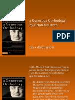Generous Orthodoxy Discussion