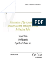 A Comparison of Service-Oriented, Resource-Oriented, And Object-Oriented Architecture Styles