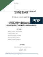 Plan de Trabajo - Auditoria de Sistemas de Información