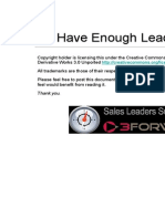 Do I Have Enough Leads Calculator 2012 3FORWARD