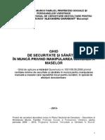 Ghid de Securitate Si Sanatate in Munca Privind Manipularea Manuala a Maselor