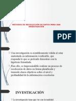 MÉTODOS DE RECOLECCIÓN DE DATOS PARA UNA.pptx