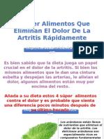 4 Súper Alimentos Que Eliminan El Dolor De La Artritis Rápidamente