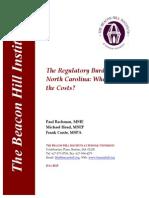 The Regulatory Burden in North Carolina