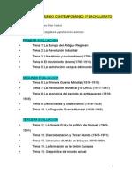 Hª Mundo Contemporáneo 1º Bachillerato