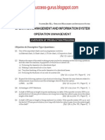 Operation Management & Information System question paper (syllabus 2008)