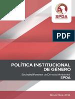 Política Institucional de Género - SPDA 2014