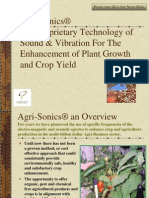 The Proven Science of Agrisonics Update 2010 to End World Hunger