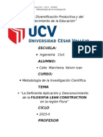 Filosofia Lean Construction i