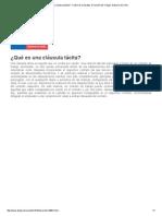 ¿Qué Es Una Cláusula Tácita_ - Centro de Consultas. Dirección Del Trabajo