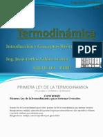 Termodinamica Uscm 1ra Ley Sistema Cerrado