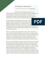Las Leyes Del Poder Popular en Venezuela