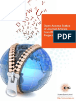 Open Access Study Status Journal Articles ERC Funded Projects