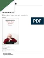 Rez_Wir Sind Alle Im Exil Von Norman Manea - Buch - Buecher.de