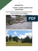 PLAN DE ADAPTACIÓN AL CAMBIO CLIMATICO PARA BIODIVERSIDAD